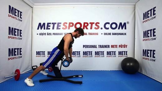 Dambıl ile Arka Omuz Ağırlıklı Çekiş – Vücut Geliştirme Egzersizleri