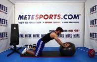 Düz Kol ile Topta Çember – Evde Pilates Egzersizleri