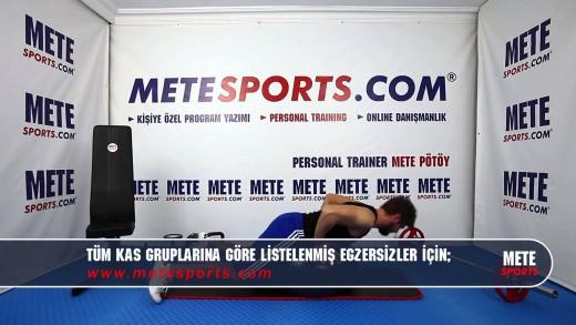 Pilates Topu ile Geriye Bükülme (Eller Ensede) –  Evde Pilates Hareketleri