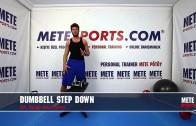 Dambıl Aşağı Adımlama – Kalça Bacak Hareketleri