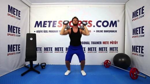 Dambıl Ön Çökme + Omuz Pres + Triceps Açma – Full Body Workout